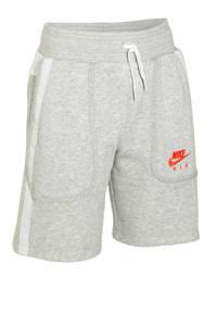 Nike short grijs melange/wit/rood, Grijs melange/wit/rood