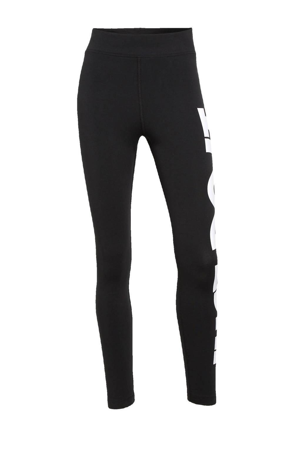 Nike legging zwart/wit, Zwart/wit