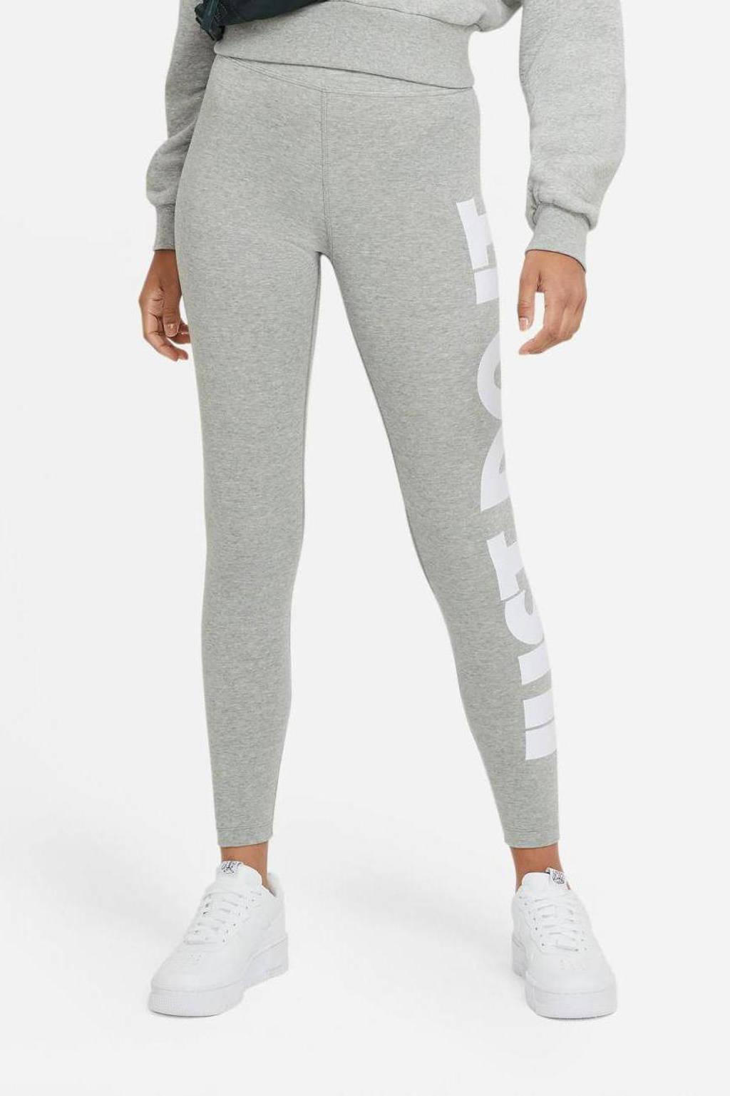 Nike legging grijs melange/wit, Grijs melange/wit