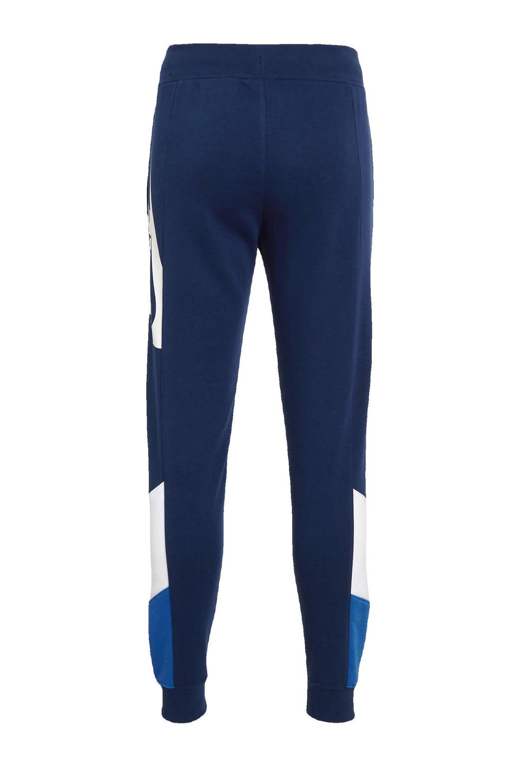 Nike joggingbroek blauw/wit, Blauw/wit