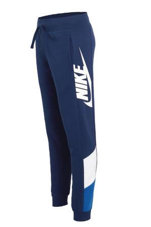 joggingbroek blauw/wit