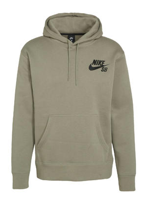 hoodie olijfgroen/zwart