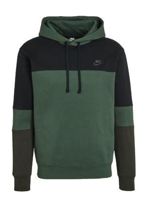 hoodie zwart/donkergroen/donkergroen