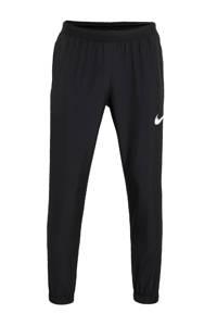 Nike hardloopbroek zwart/grijs/wit, Zwart/grijs/wit