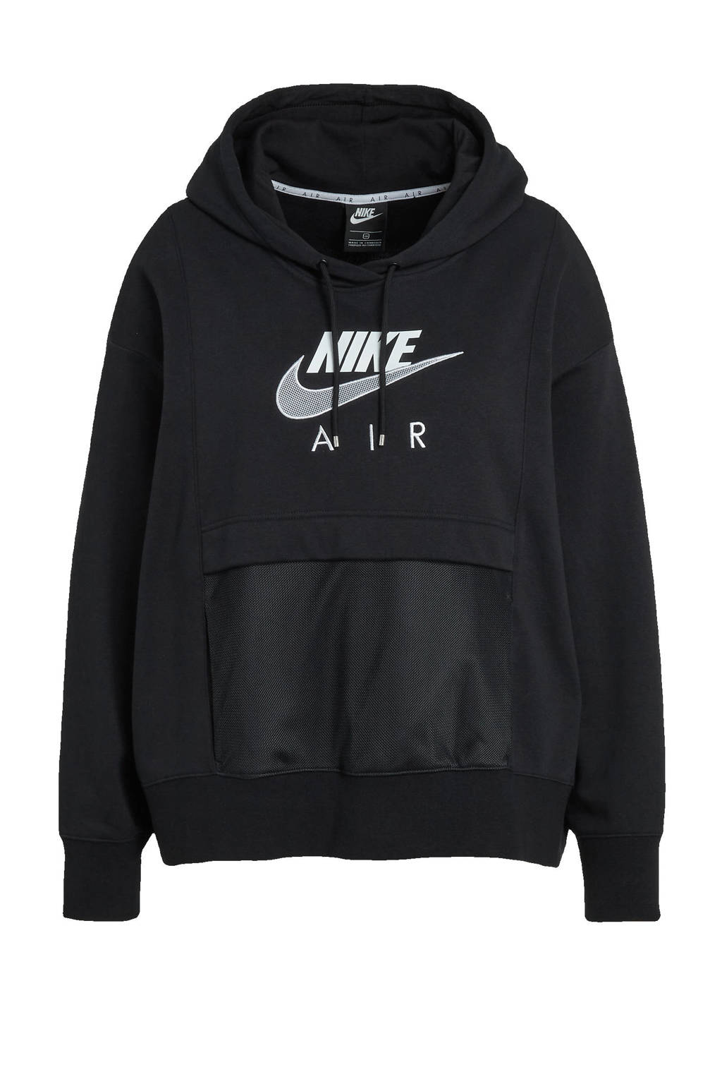 Nike Plus Size hoodie zwart/wit, Zwart/wit
