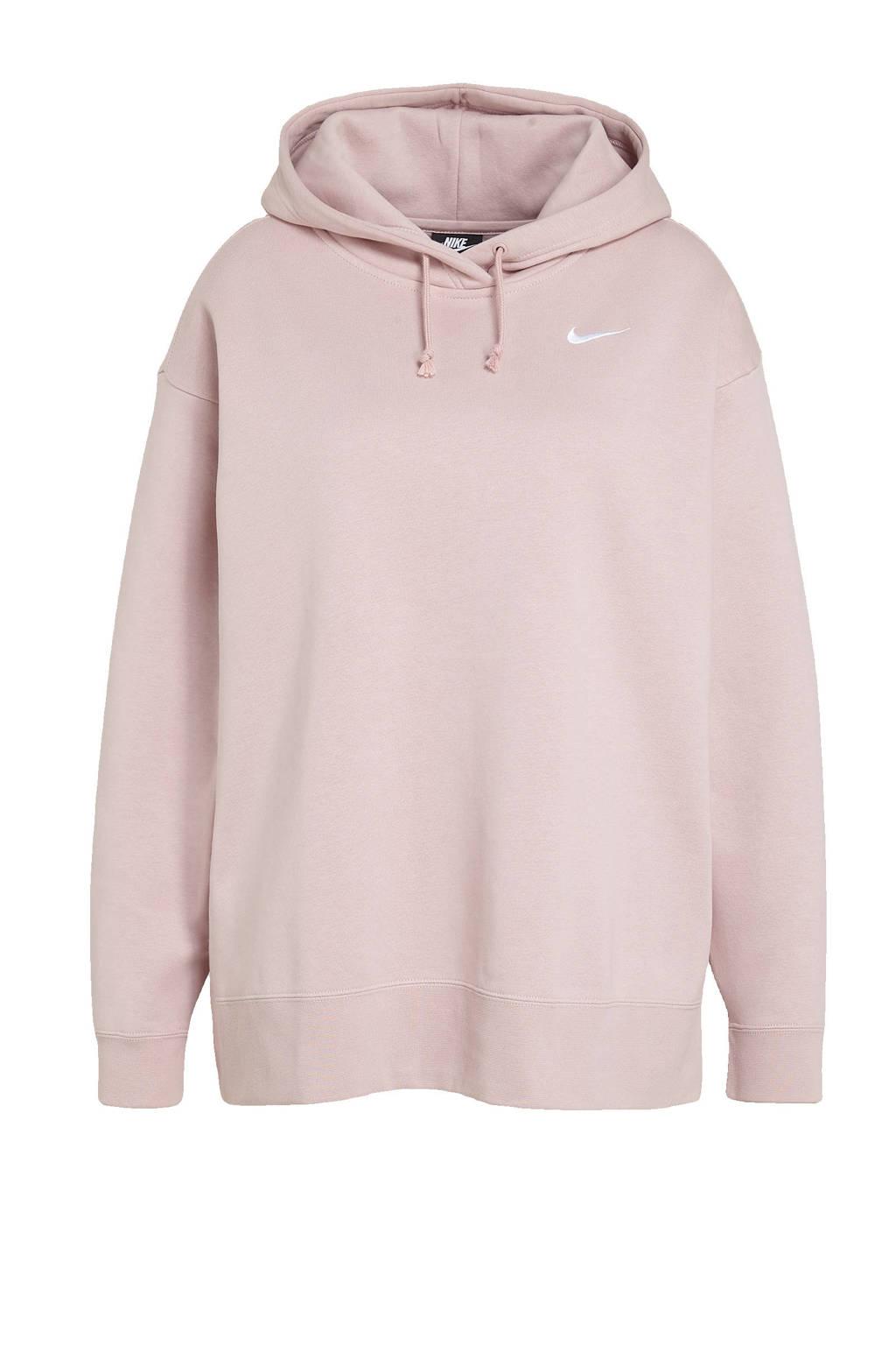 Nike Plus Size hoodie licht roze, Licht roze
