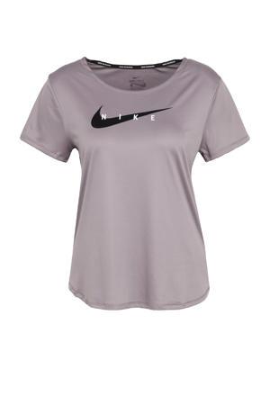 sport T-shirt lila/zilvergrijs