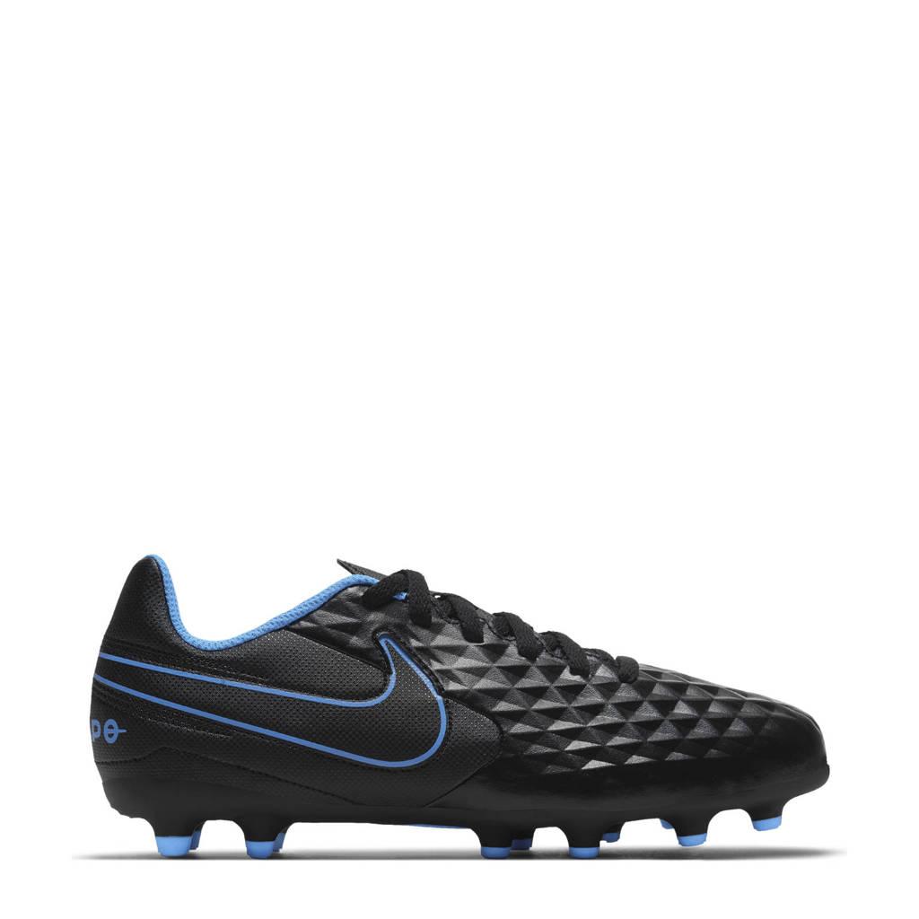 Nike Tiempo Legend 8 Club FMG Jr. voetbalschoenen zwart/felgeel/kobaltblauw