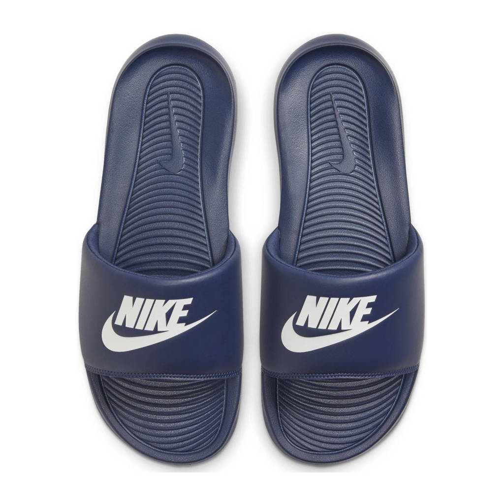 Nike Victori One Slide  slippers donkerblauw/wit, Donkerblauw/wit