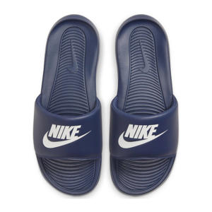 Victori One Slide  slippers donkerblauw/wit