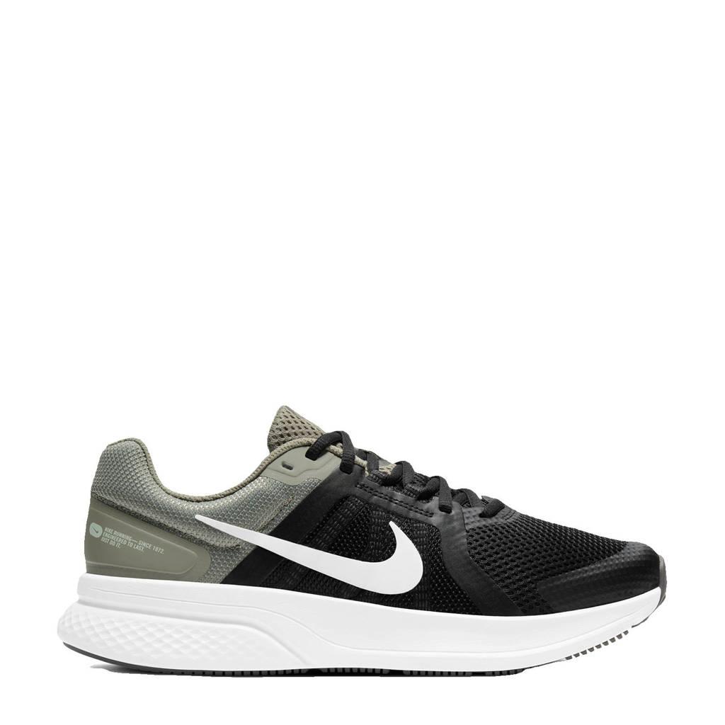 Nike Run Swift 2 hardloopschoenen olijfgroen/zilver grijs-zwart