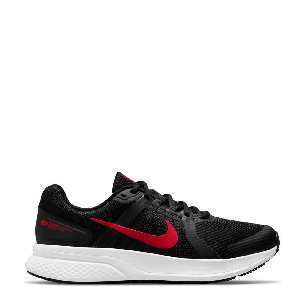 Nike Run Swift 2 hardloopschoenen zwart/rood/wit, zwart/rood-wit