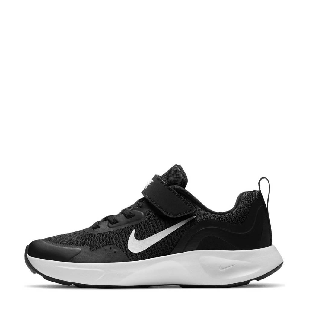 Nike WearAllDay (PS) sneakers zwart/wit, Zwart/wit
