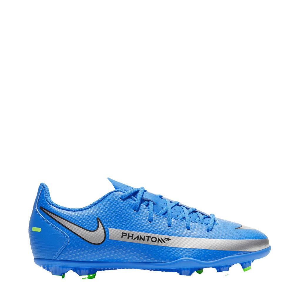 Nike Phantom GT Club FG/MG Jr. voetbalschoenen kobaltblauw/zilver/groen, kobaltblauw/zilver-felgroen