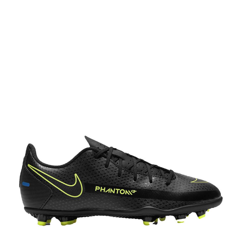 Nike Phantom GT Club FG/MG Jr. voetbalschoenen zwart/felgeel/kobaltblauw