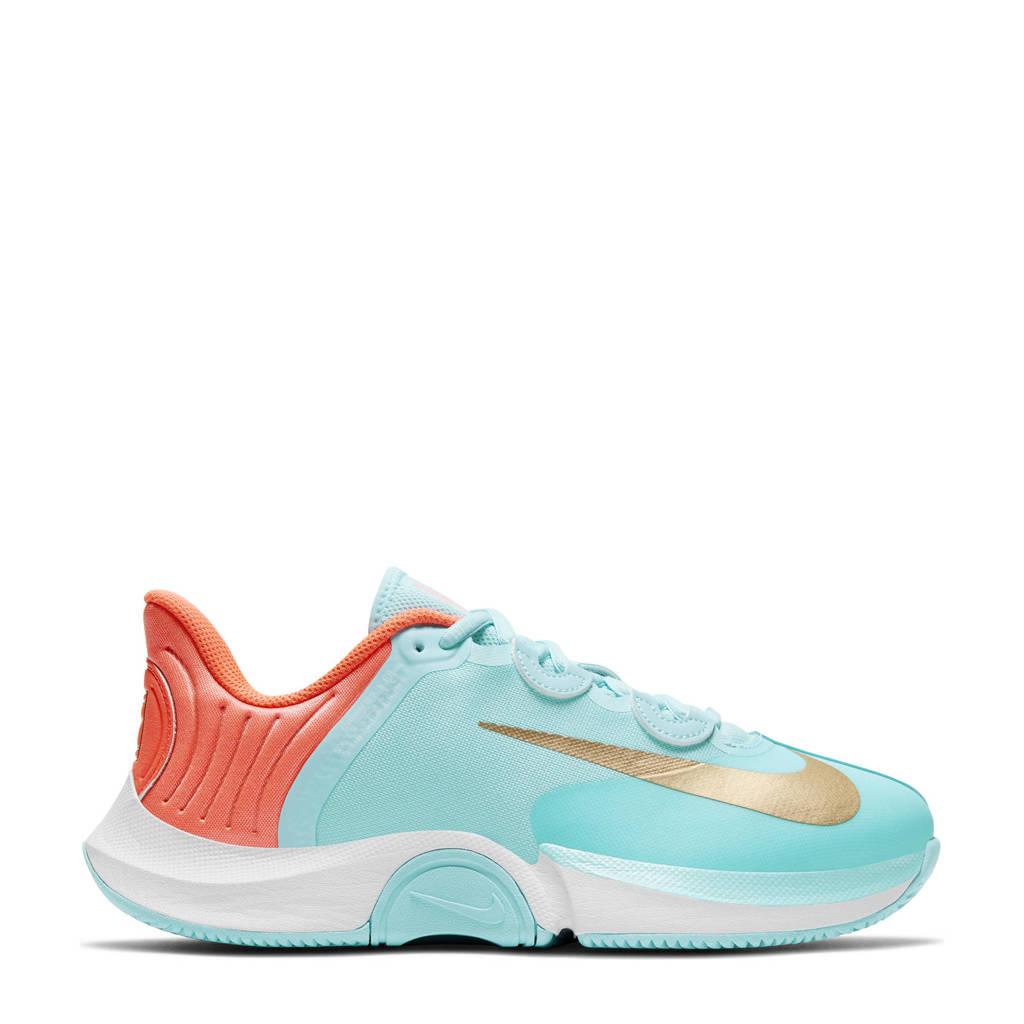 Nike Air Zoom GP Turbo HC tennisschoenen aqua/goud-oranje-wit
