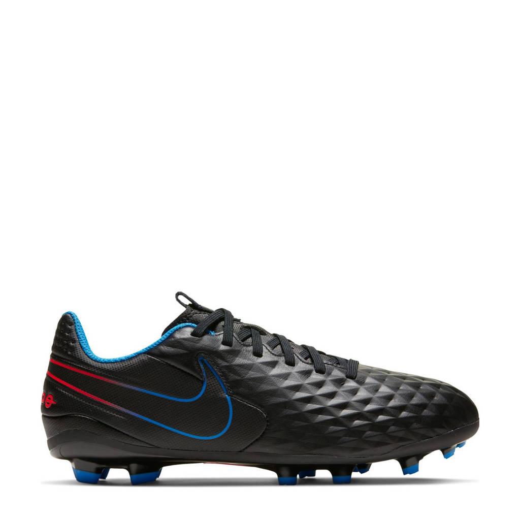 Nike  Jr. Legend 8 Academy Jr. Tiempo Legend 8 Academy MG Jr. voetbalschoenen zwart/rood/blauw, Zwart/rood/kobaltblauw