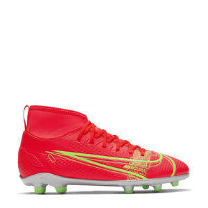 Superfly 8 Club FG/MG Jr. voetbalschoenen rood/zilver