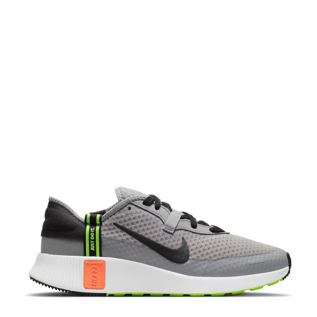 Nike Reposto  sneakers grijs/zwart/felrood, Grijs/zwart-felrood