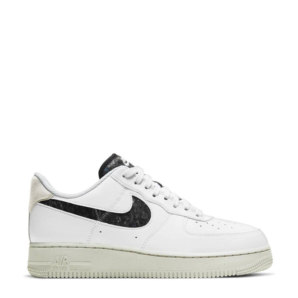 Nike Air Fore 1 '07 SE sneakers wit/beige/zwart, Wit/beige/zwart