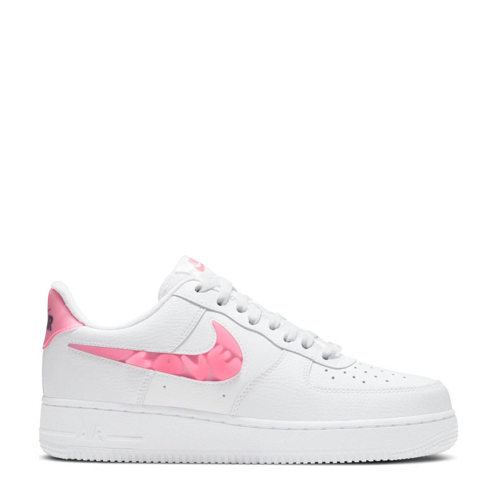 Nike Air Force 1  '07 sneakers wit/koraalrood-zwart