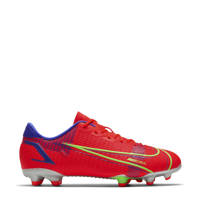 Nike Vapor 14 Academy FG/MG Jr. voetbalschoenen rood/zilver, Rood/zilver