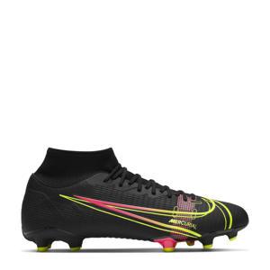 Superfly 8 Academy FG/MG Sr. voetbalschoenen zwart/felgeel