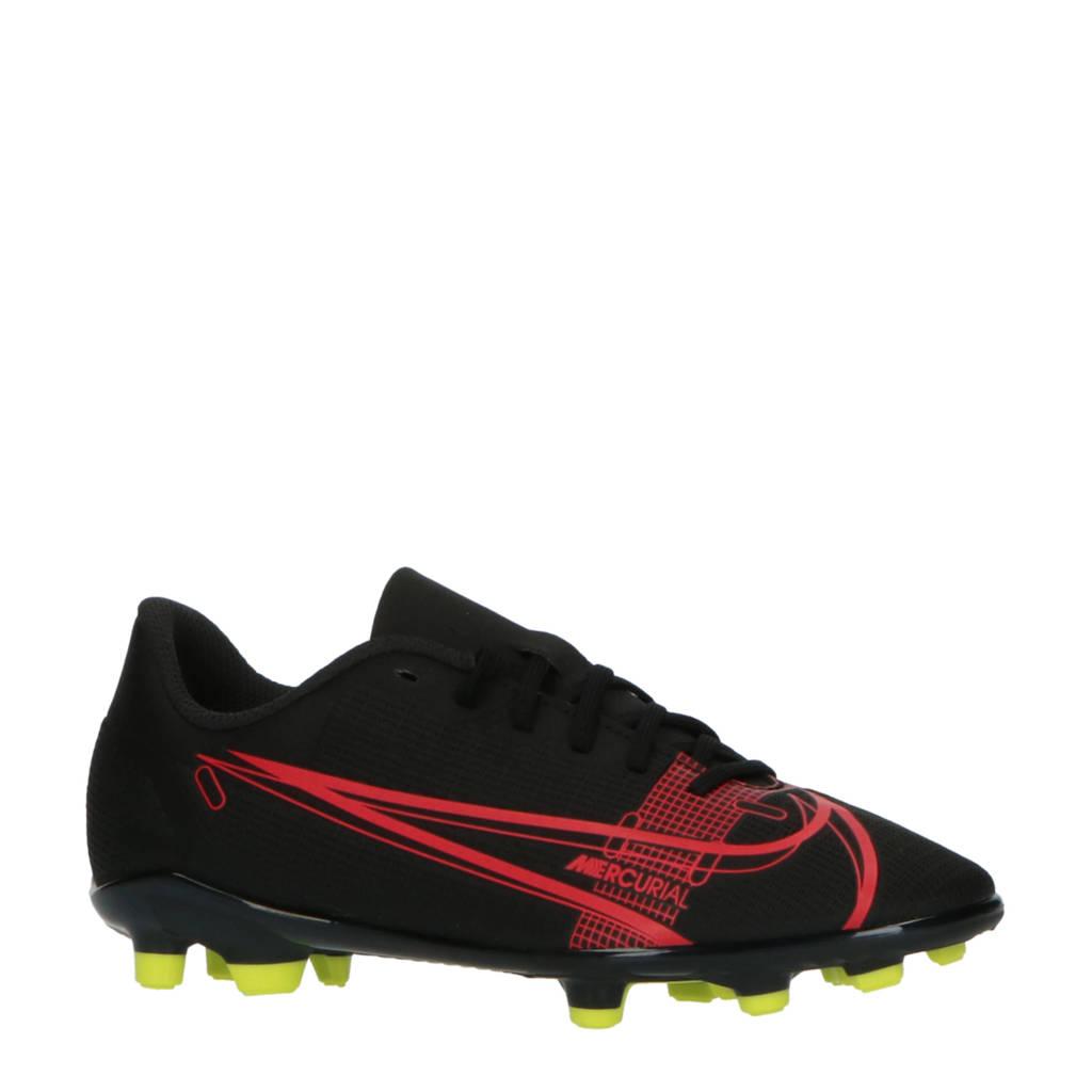 Nike Vapor 14 Club FG/MG Jr. voetbalschoenen zwart/rood, Zwart/rood