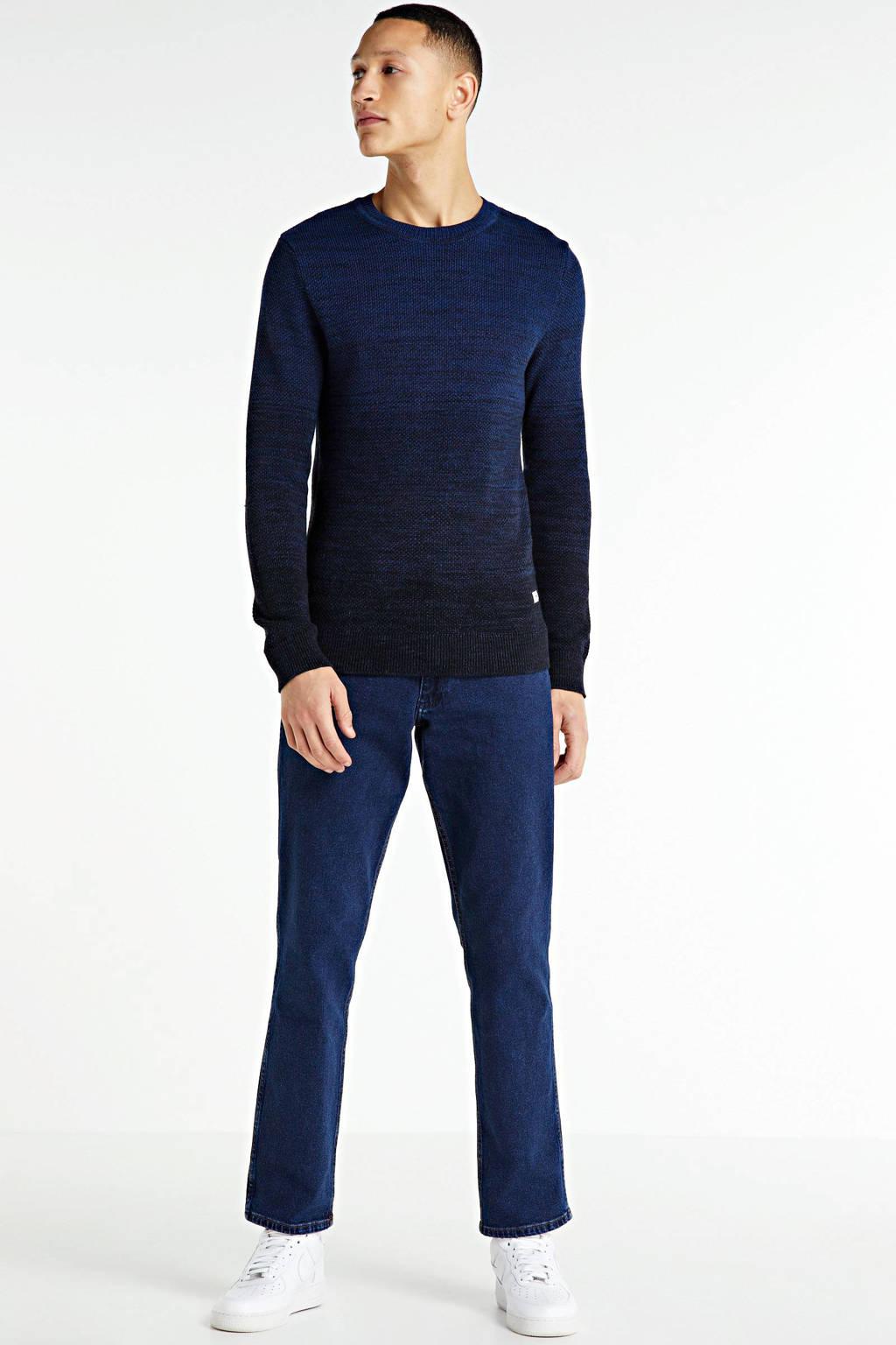 PRODUKT gemêleerde trui donkerblauw, Donkerblauw