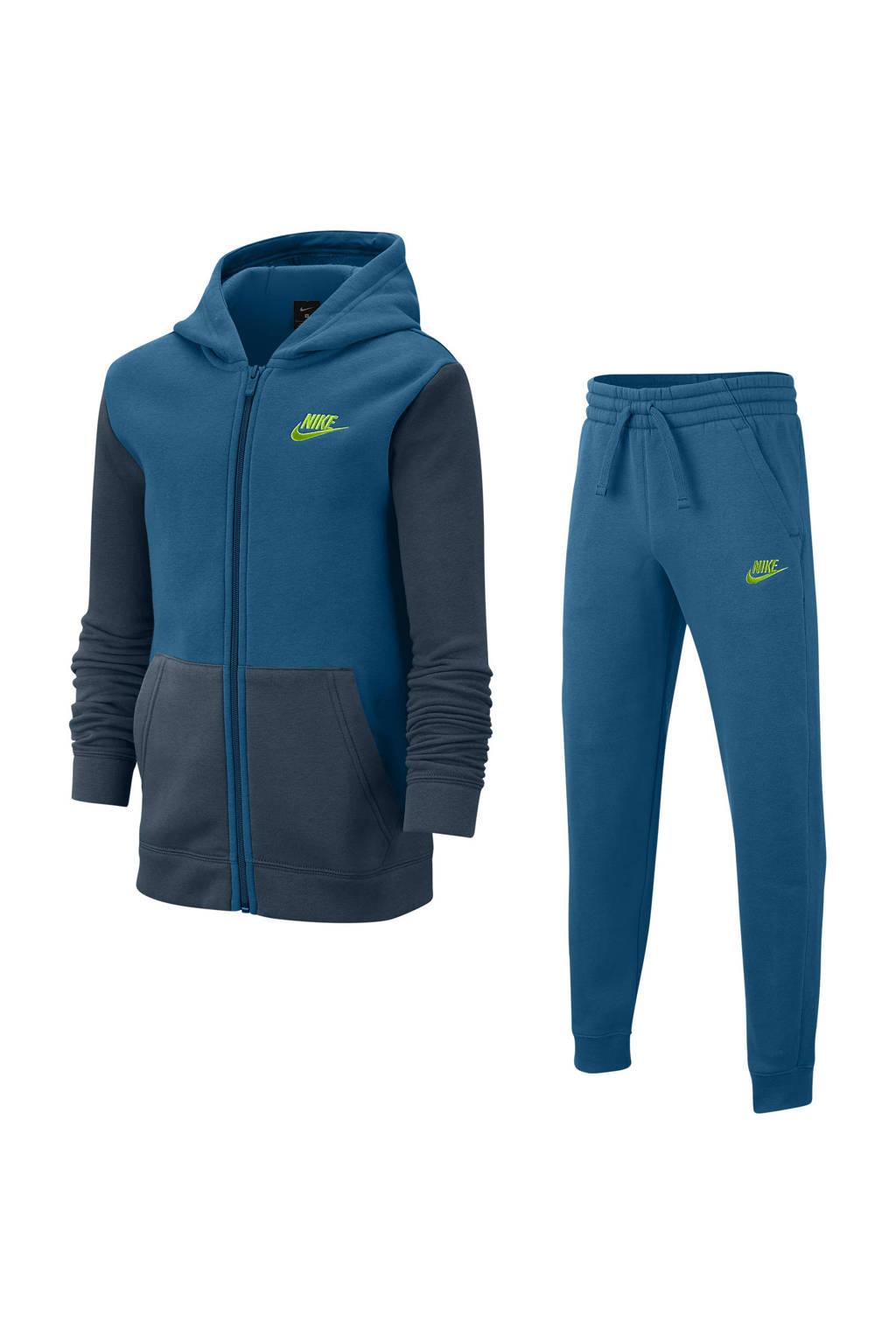Nike   trainingspak donkerblauw, Petrol/donkerblauw/geel