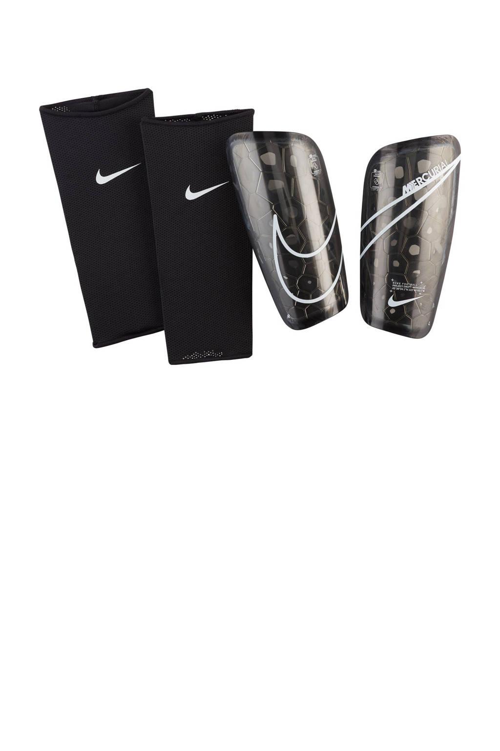 Nike   scheenbeschermers NK MERC LT GRD zwart/wit, Zwart/wit