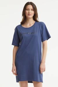 Dreamcovers nachthemd met printopdruk blauw, Blauw