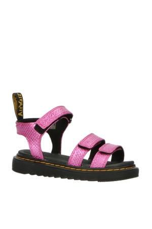 Klaire J Pink Reptile Emboss leren sandalen roze