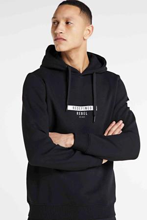 hoodie Jonas met biologisch katoen zwart