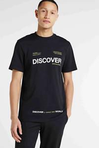 Redefined Rebel T-shirt met printopdruk zwart, Zwart