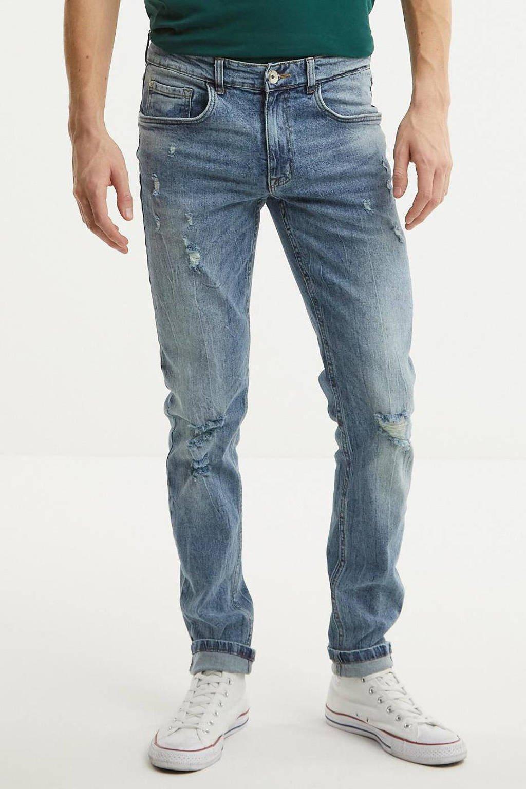 Redefined Rebel slim fit jeans light blue denim, Light blue denim