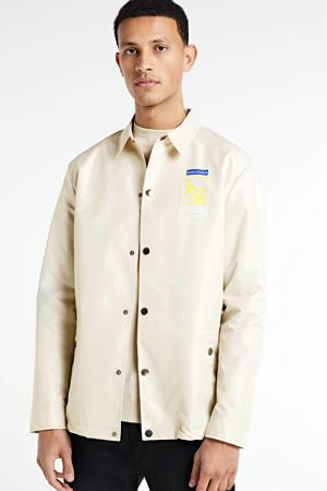 overshirt Bill met printopdruk licht beige