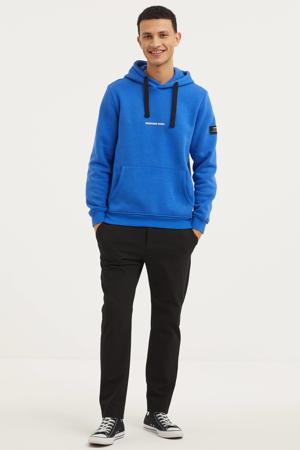 hoodie Alfred met biologisch katoen blauw