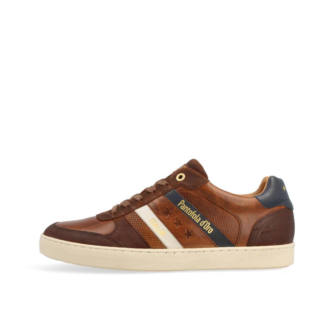 Pantofola d'Oro Soverato Uomo Low  leren sneakers cognac, Cognac