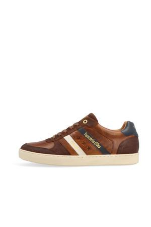 Soverato Uomo Low  leren sneakers cognac