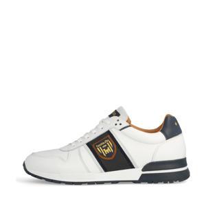 Sangano Uomo Low  leren sneakers wit