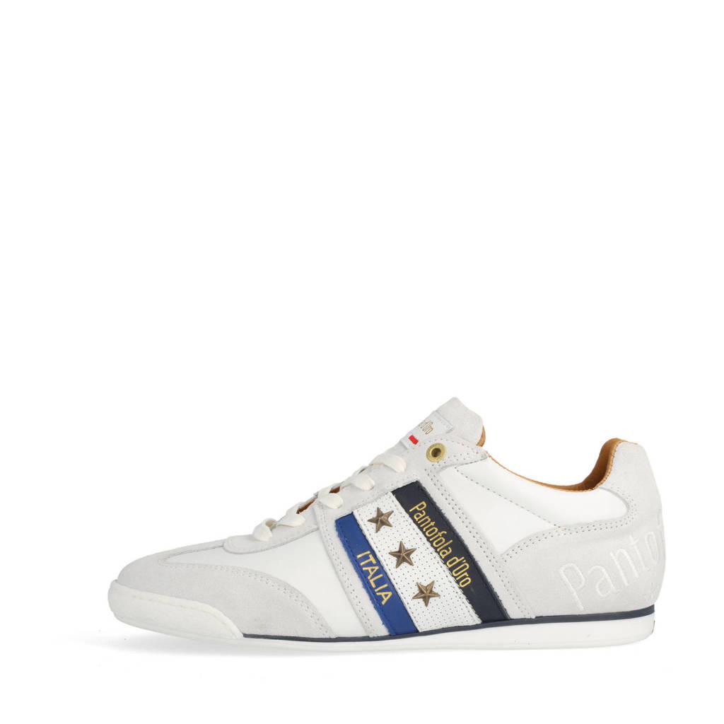 Pantofola d'Oro Imola Uomo Low  leren sneakers wit, Wit/multi