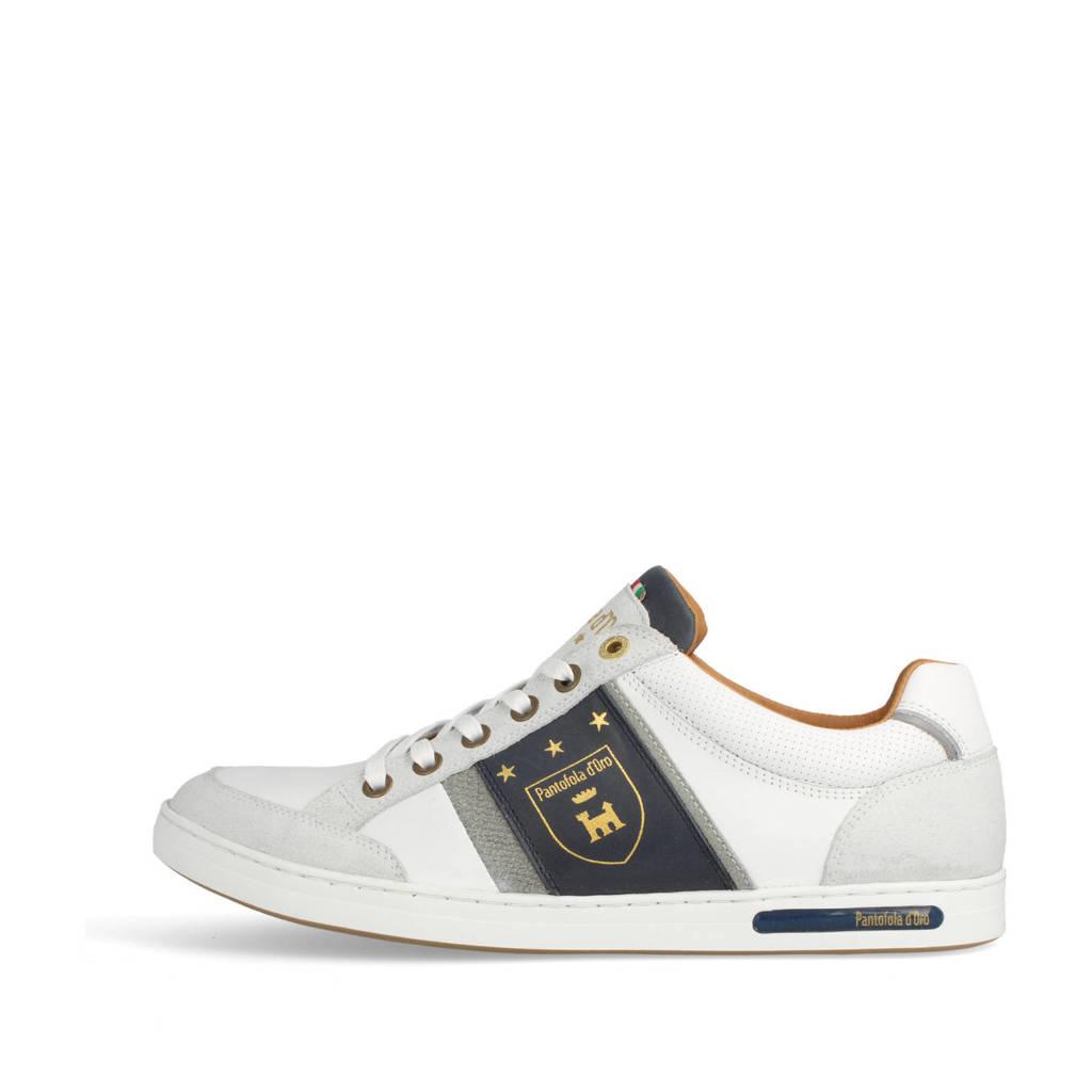 Pantofola d'Oro Mondovi Uomo Low  leren sneakers wit, Wit