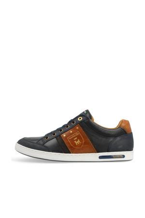 Mondovi Uomo Low  leren sneakers donkerblauw