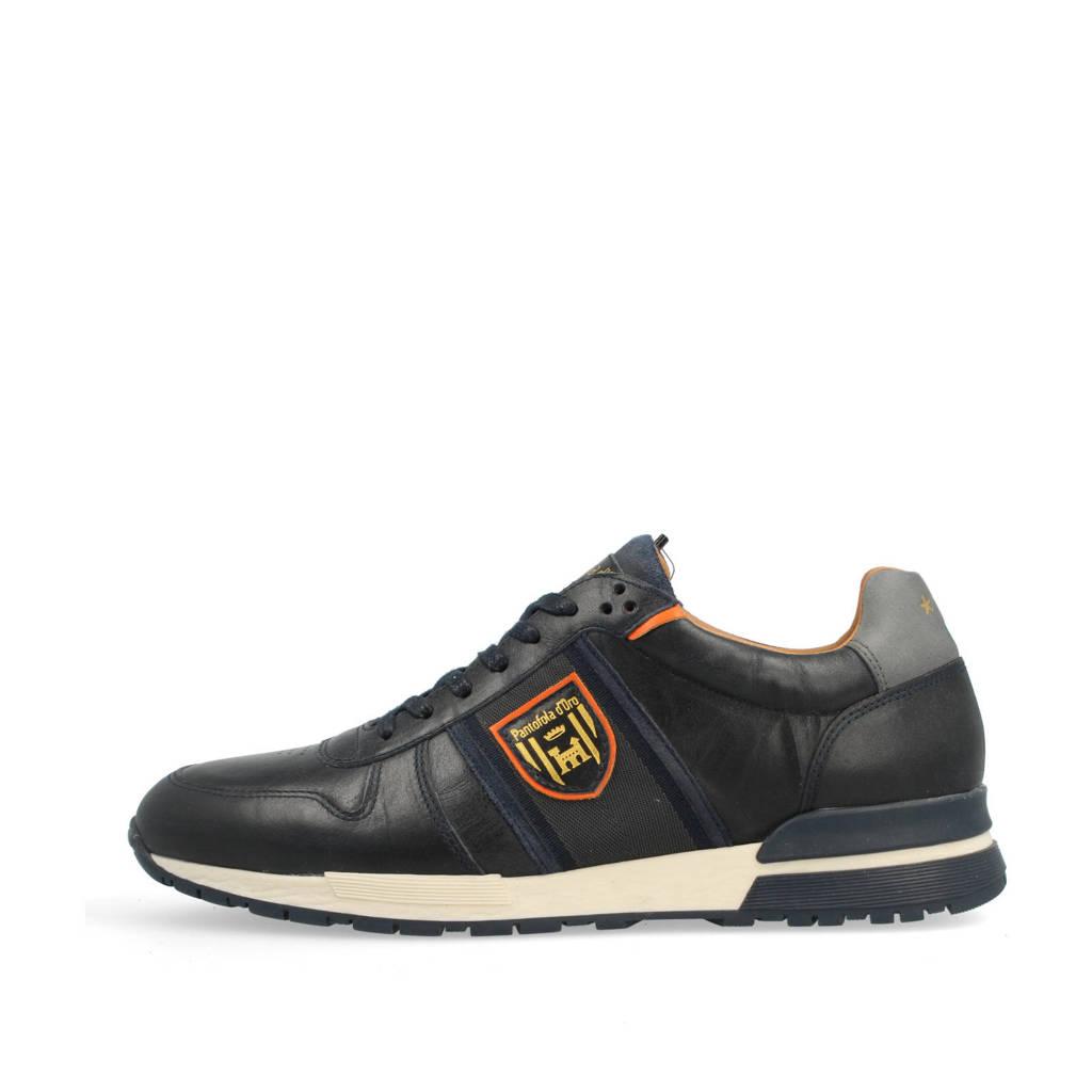 Pantofola d'Oro Sangano Uomo Low  leren sneakers donkerblauw, Donkerblauw