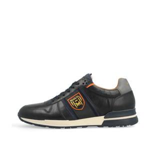 Sangano Uomo Low  leren sneakers donkerblauw