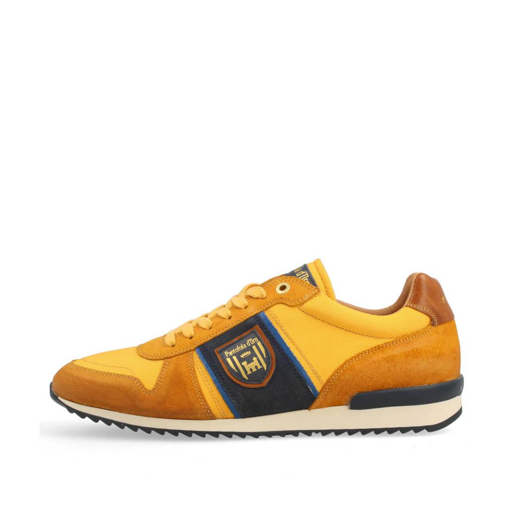 Pantofola d'Oro Umito N Uomo Low  leren sneakers geel, Geel/blauw