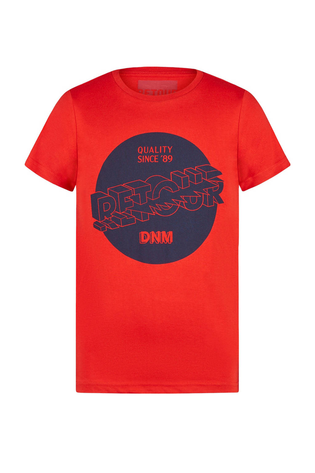 Retour Denim T-shirt Davis met printopdruk rood/donkerblauw, Rood/donkerblauw