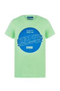 Retour Denim T-shirt Davis met printopdruk fris groen/blauw, Fris groen/blauw