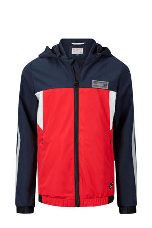 zomerjas Chuck donkerblauw/rood